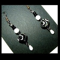 PETITE DROPS Black and White Drops | whiteowldesigns - Jewelry on ArtFire