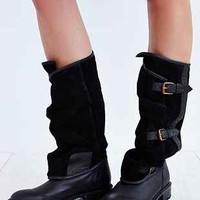 Jeffrey Campbell Swash Belted Panel Tall Boot - Urban Outfitters