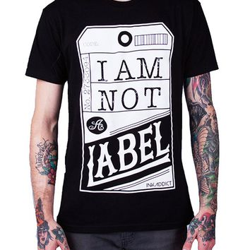 "Men's ""Not a Label"" Tee by InkAddict (Black)"