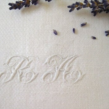 White on white linen bath towel ~ accompanied Madame RA on the Grand Tour