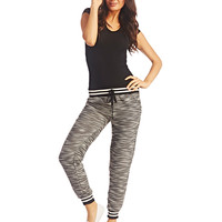 Striped Waist Jogger Pants | Wet Seal