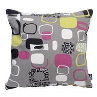 Heal's | Heal's Sanderson Festival Cushion Grey And Blackcurrant > Cushions > Soft Furnishings > Accessories