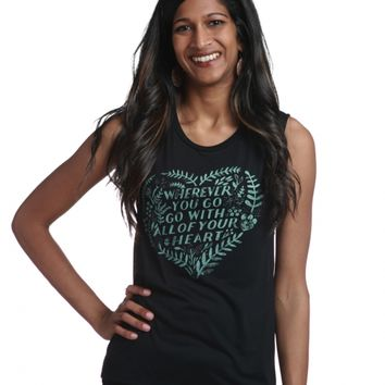 """Wherever You Go"" Women's Muscle Tank"