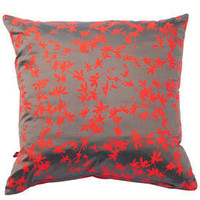 Heal's | Clarissa Hulse Potentilla Chilli and Zinc Silk Cushion > Cushions > Soft Furnishings > Accessories