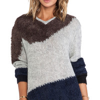 Tibi Mohair Sweater in Gray