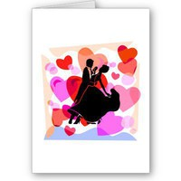 Hearts ballroom dancing greeting card from Zazzle.com