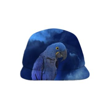Hyacinth Macaw Baseball Hat created by ErikaKaisersot | Print All Over Me