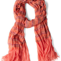 Colored Pencil Tin Scarf in Coral | Mod Retro Vintage Scarves | ModCloth.com