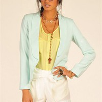 Pastel Blazer - Mint at Necessary Clothing