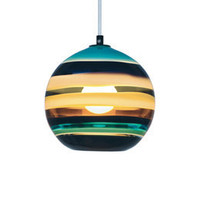 risd|works - official store of the RISD Museum of Art - Aqua Banded Orb Pendant