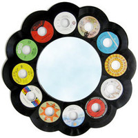 "risd|works - official store of the RISD Museum of Art - 22"" Round 45RPM Record Framed Mirror"