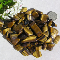 10 Tiger Eye - Gold - Crystal Tumblestones
