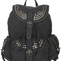 Studded Denim Backpack - New In This Week  - New In