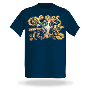 Van Gogh TARDIS Shirt
