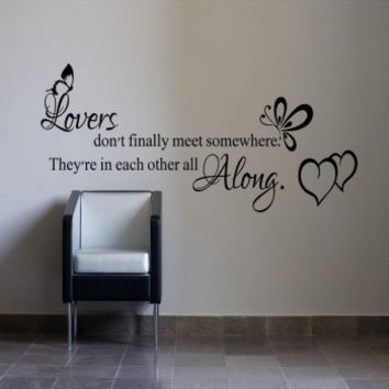 Lovers dont finally meet somewhere - G Direct Wall Stickers