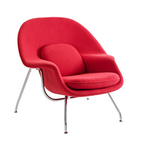Nest Lounge and Ottoman Set in Red