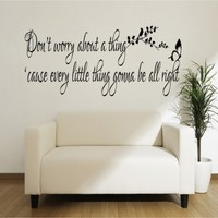 Don't worry bout a thing Bob Marley - G Direct Wall Stickers