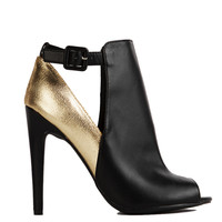 Metallic Cut Out Heel