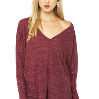 Lazy Day Top in Burgundy