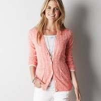 AEO Real Soft® Ribbed Knit Cardigan