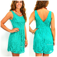 Crews Hill Emerald Lace Fit & Flare Dress