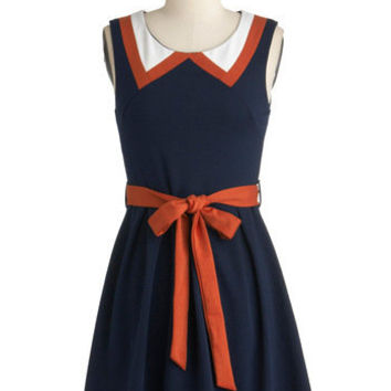 ModCloth Nautical Short Sleeveless A-line Red, White, and Cute Dress
