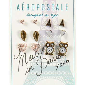 Love Paris Stud Earring 6-Pack