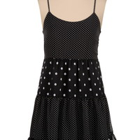 mixed dot print babydoll dress