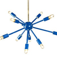 Blue Sputnik Chandelier Lighting