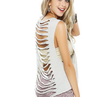 Papaya Clothing Online :: BACK CUT-OUT GRAPHIC TOP