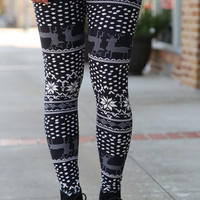 Vintage Print {Leggings}