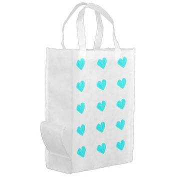 Blue hearts Reusable Bag