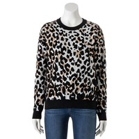 Takeout Quilted Leopard Top - Juniors