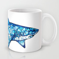 Shark Mug by Kate Fitzpatrick | Society6