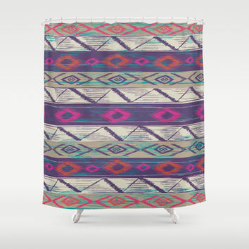 Boho bob Shower Curtain by rskinner1122