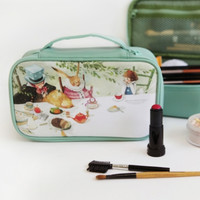 Large Alice Mint Cosmetic Pouch