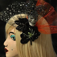 Day Of The Dead Skull Hair Fascinator