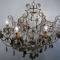 Chandelier fixture Dalia on black by Alabelys by alabelys on Etsy