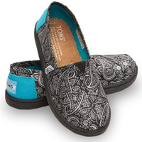 BLACK AND TURQUOISE PAISLEY YOUTH CLASSICS