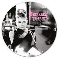 Vandor 92089 Audrey Hepburn Cordless Wood Wall Clock, Multicolored