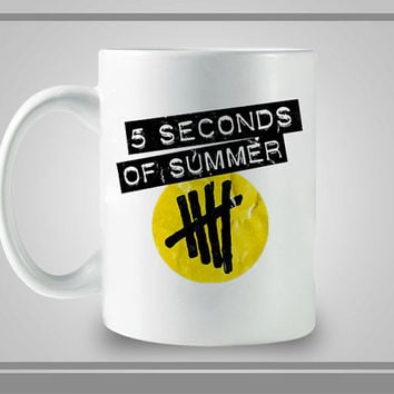 Black 5SOS Yelow Logo Ceramic Coffe Mug, Best Gift, Decorative With Cool Design