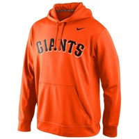 Nike San Francisco Giants Blended Wordmark Performance Hoodie - Orange