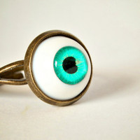 Vintage Style Blue Eye Ball Ring