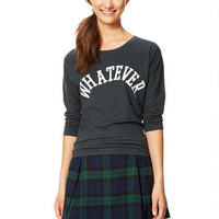 Whatever Long-Sleeve Top - Charcoal