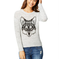 Tribal Fox Intarsia Sweater