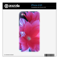 Christmas Cactus Flowers iPhone 4S Decals