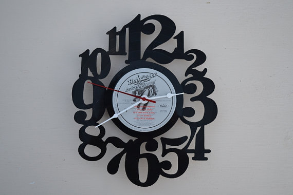 Vinyl Record Album Wall Clock (artist is Bob Seger)