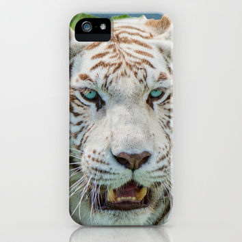 THE BEAUTY OF WHITE TIGERS iPhone & iPod Case by Catspaws | Society6