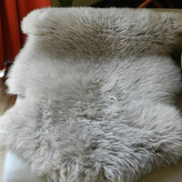 Grey Sheepskin Rug