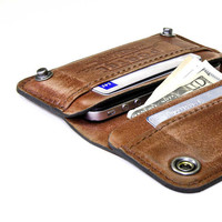 iPhone / iPod Touch - - RETROMODERN aged leather wallet - - LIGHT BROWN